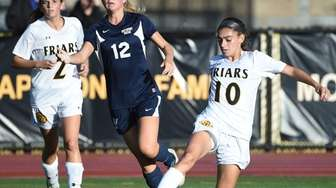Gianna Russo of St. Anthony's passes the ball