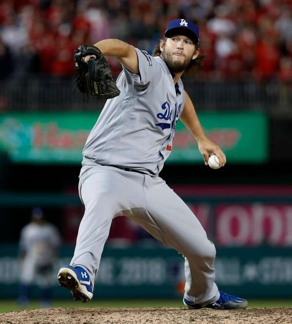 Los Angeles Dodgers pitcher Clayton Kershaw winds up