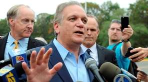 Nassau County executive Edward Mangano speaks to the