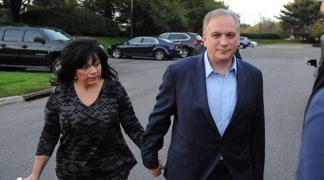 Nassau County Executive Edward Mangano and his wife,