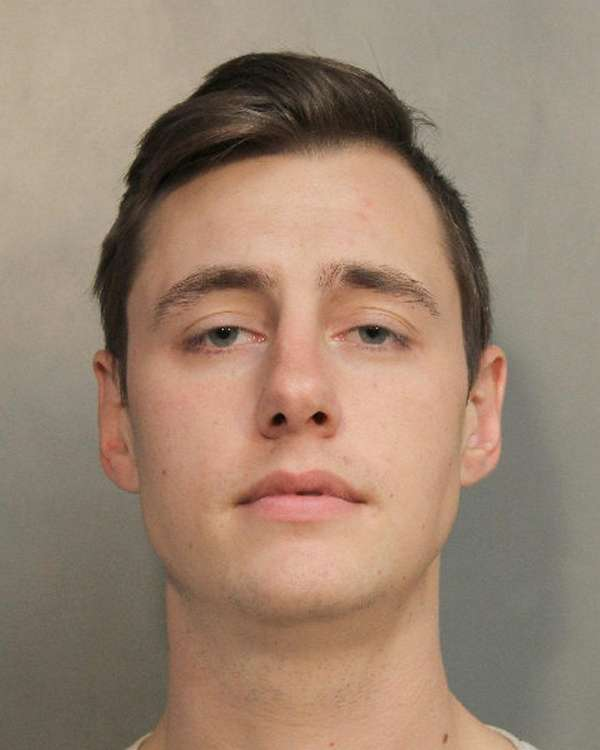 Christopher Moffitt-Gabis, 25, of Syosset is accused of