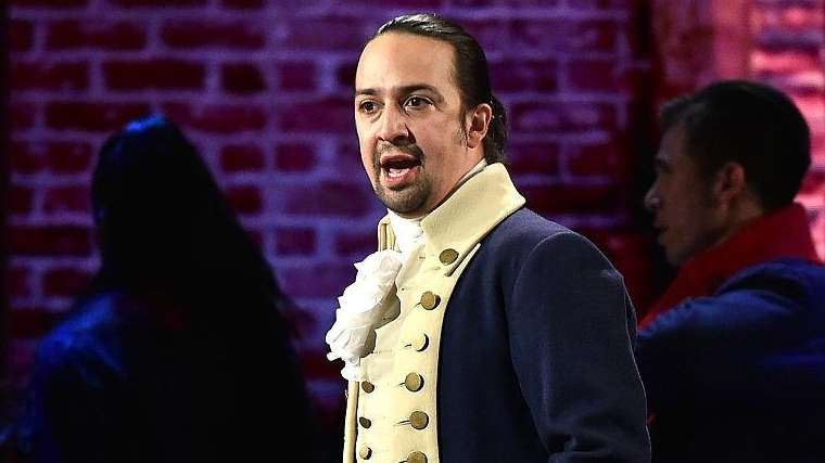 Lin-Manuel Miranda plays the role of Alexander Hamilton