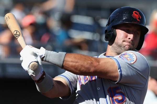 New York Mets' prospect Tim Tebow #15 of