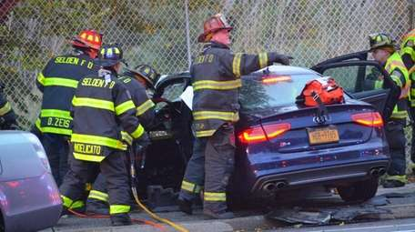 The Selden Fire Department responded to a two-vehicle