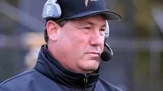 Sachem North's varsity fooball head coach David Falco