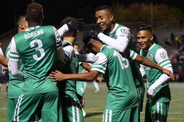 New York Cosmos midfielder Yohandry Orozco (19) celebrates