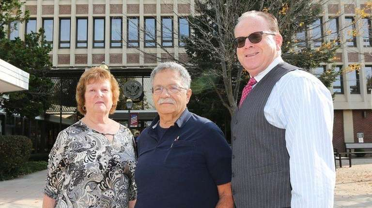 From left, Town of Hempstead employees Maureen Willix,