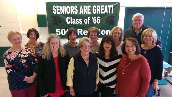 Members of Elmont High School's Class of 1966