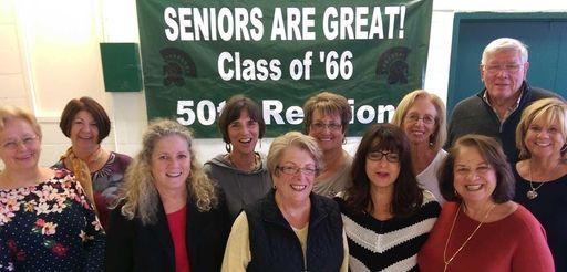Members of Elmont High School's Class of 1966