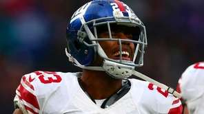 Rashad Jennings of the New York Giants celebrates