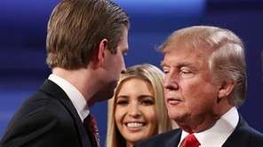 Eric Trump, Ivanka Trump, Republican presidential nominee Donald