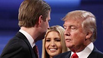 Eric Trump, Ivanka Trump, Republican presidential nominee Donald