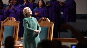 Hillary Clinton, on the stump at Union Baptist