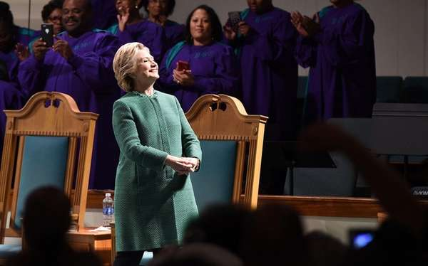 Hillary Clinton, on the stump at Union Baptist