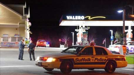 Suffolk County police said an armed robbery took