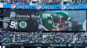 The Jets hold a ceremony for Dennis Byrd