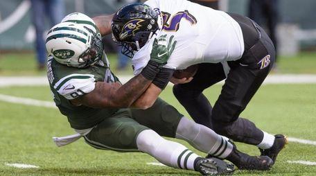 New York Jets defensive end Sheldon Richardson sacks