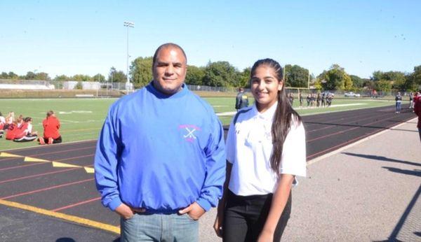 Newfield High School sophomore golf team member Alexa