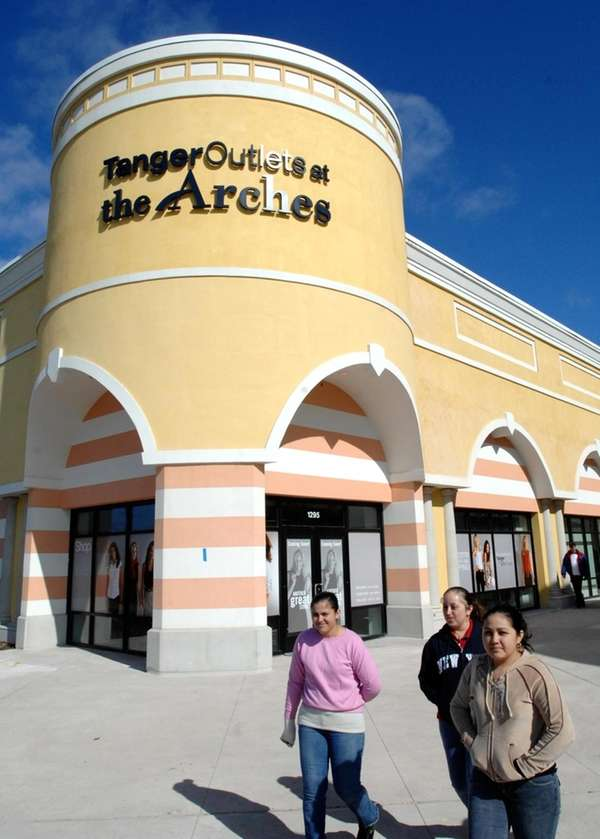 The exterior of Tanger Outlets in Deer Park.