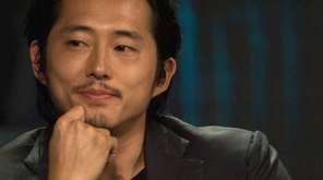 Actor Steven Yeun, who plays Glenn Rhee in
