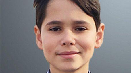 Tyler Fazzari, a seventh-grader at Carrie Palmer Weber