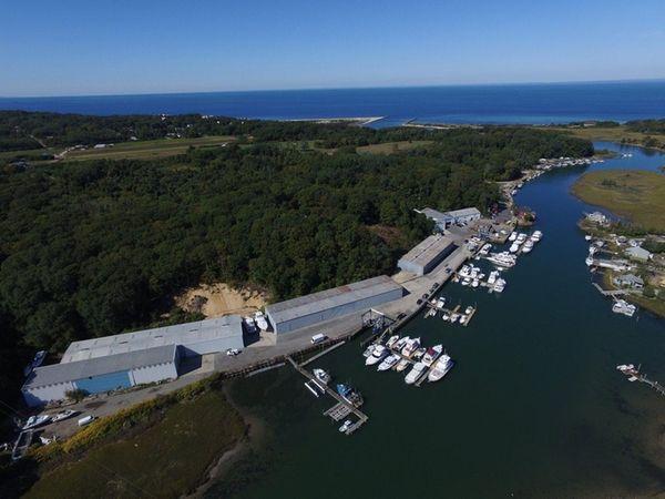 Aerial photo of Mattituck Inlet Marina and Shipyard