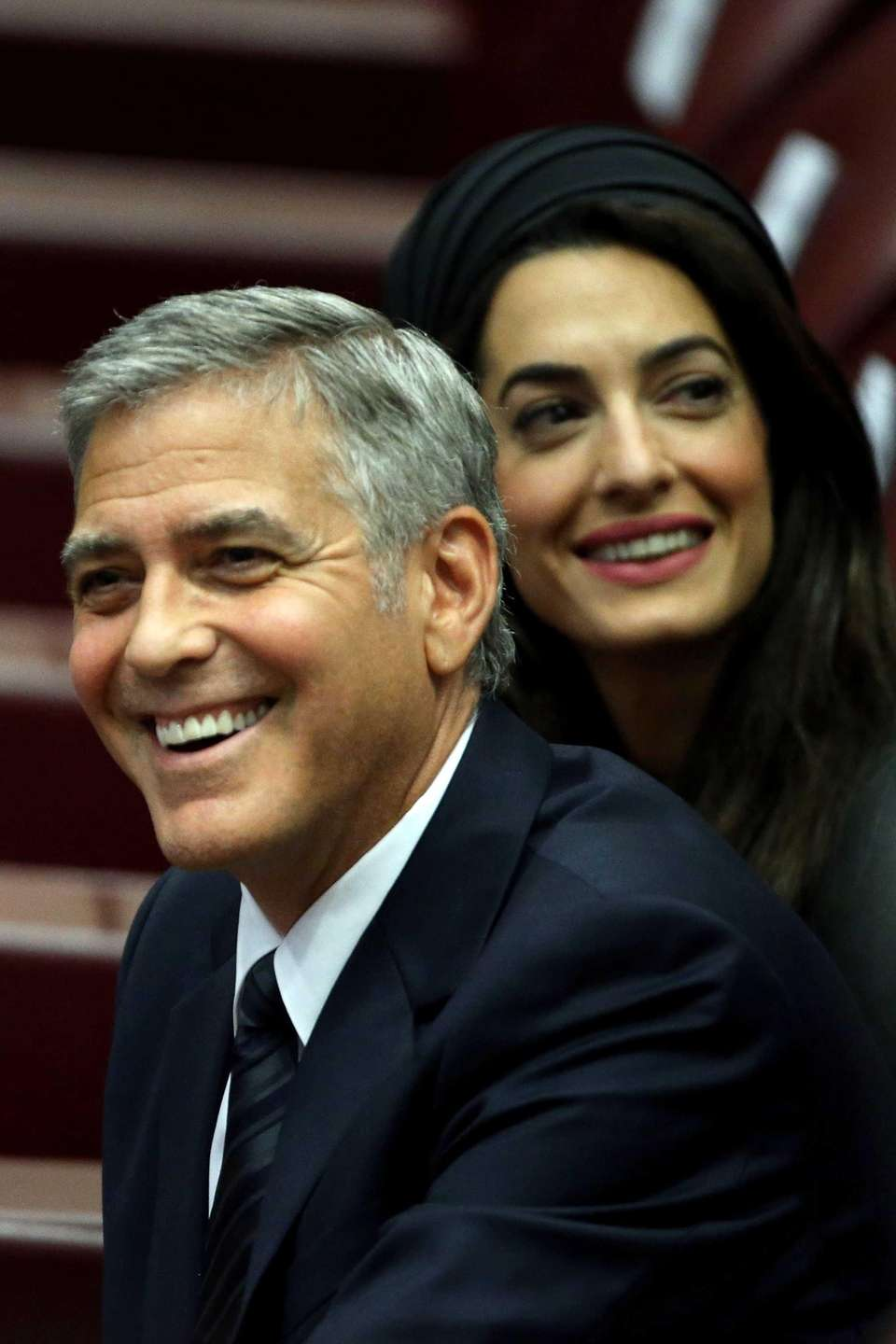 George Clooney and Amal Clooney attend 'Un Muro