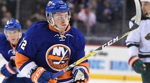 New York Islanders left wing Anthony Beauvillier skates