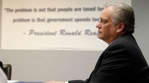 Nassau County Executive Edward Mangano speaks about the