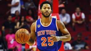 Derrick Rose of the New York Knicks against