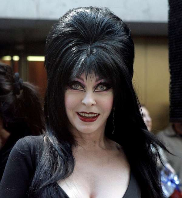 Elvira from Five TV hosts worth their weight in ghoul