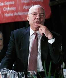 Former U.S. Secretary of State Colin Powell, a