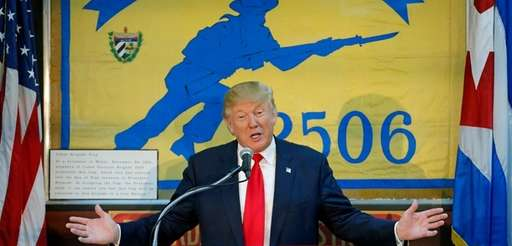 Republican presidential nominee Donald Trump speaks to the