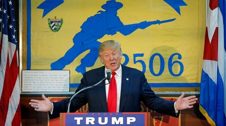 Donald Trump speaks to the Bay of Pigs