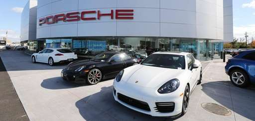 Three months after opening its expanded showroom, Porsche
