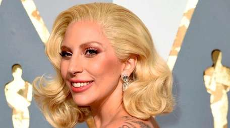 Lady Gaga arrives at the Oscars in Los