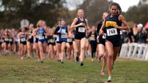 Shoreham-Wading River's Katherine Lee leads the field early