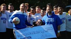 Suffolk County Community College men's soccer coach Frank