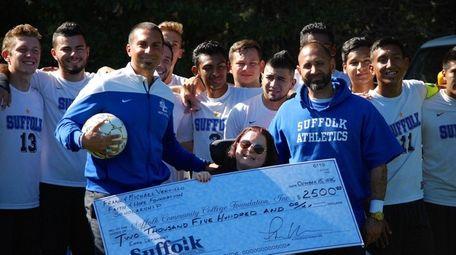Suffolk County Community College men's soccer coach Frank