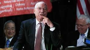 Colin Powell speaks during a Long Island Association