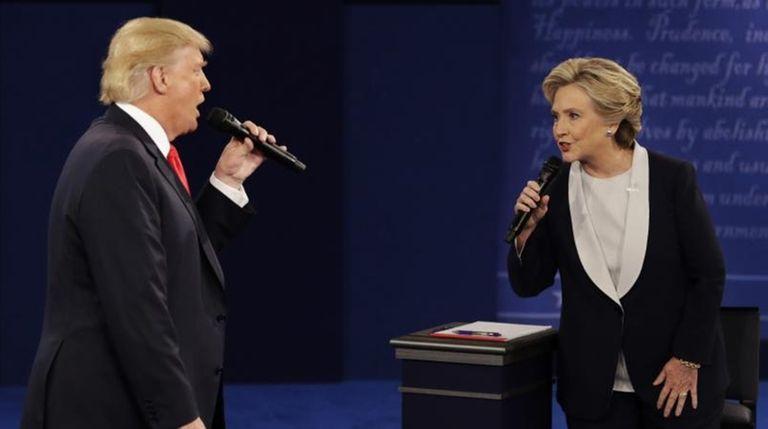 Republican presidential nominee Donald Trump, left, and Democratic