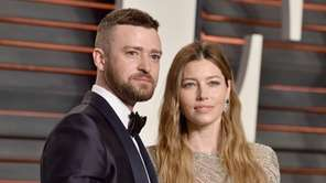 Justin Timberlake and Jessica Biel hosted a Clinton