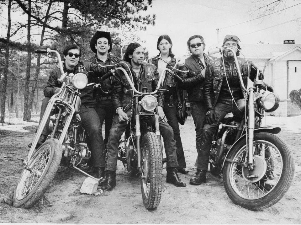 Members of the Nomad Motorcycle Club in Selden