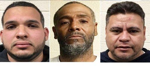 William Estrada, 37, Bronx, NY, left to right