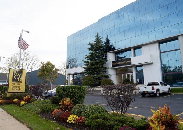 New York Community Bank headquarters in Westbury, Oct.