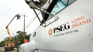 A PSEG Long Island crew is seen at
