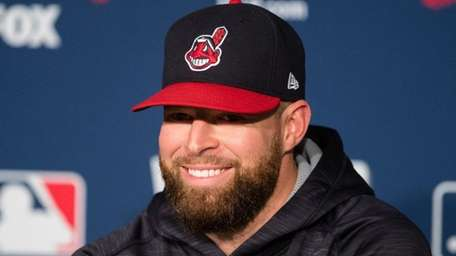 Corey Kluber of the Cleveland Indians during World