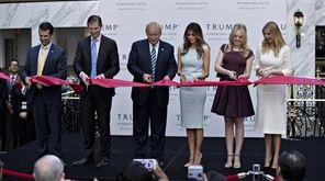 Donald Trump, who spent Wednesday night, Oct. 26,