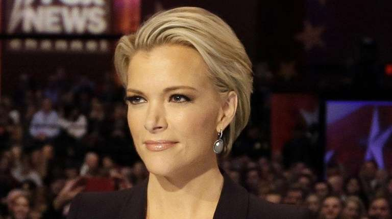 Moderator Megyn Kelly waits for the start of