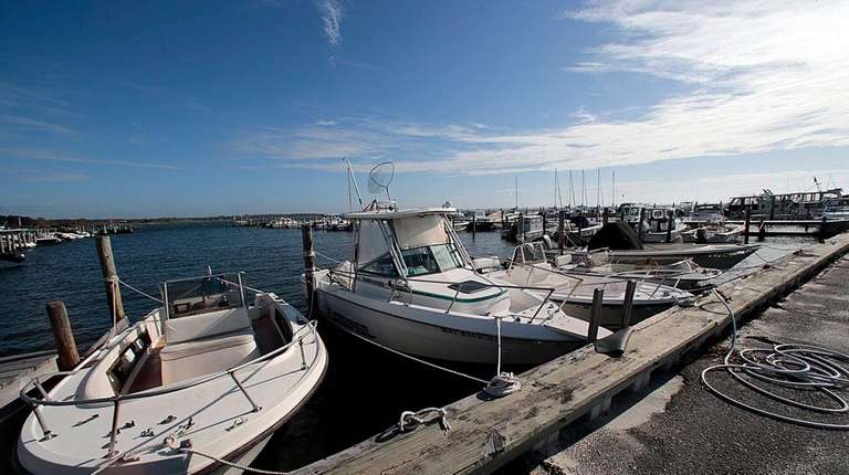 A view of the Bellport marina on Oct.